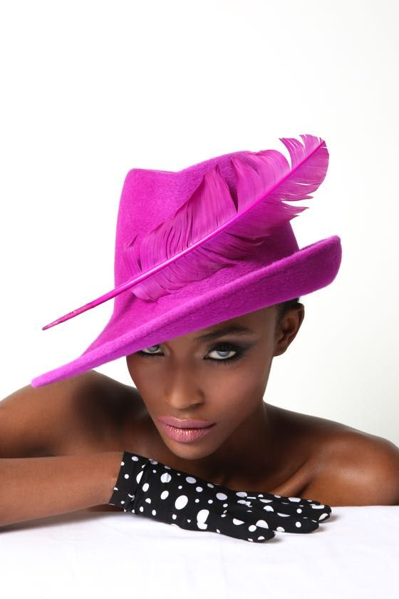 aw16 | Philip Treacy London I absolutely love this hat. I've always wanted a cerise pink trilby...