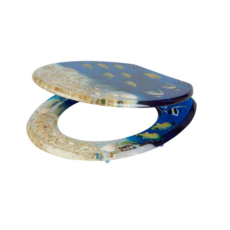 Cooke & Lewis Andrano Tropical Fish Standard Close Toilet Seat | Departments | DIY at B&Q