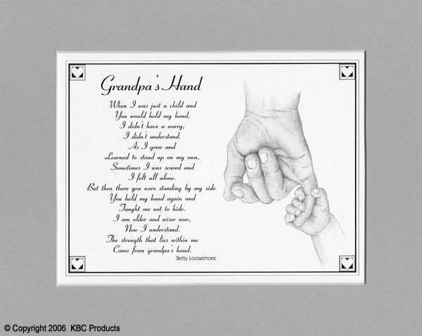 Best Grandfather Poem | grandpa s hand the same poem as daddy s hand except for a grandpa ...