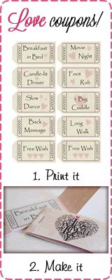 Cute love coupons for your boyfriend! Easily customizable!