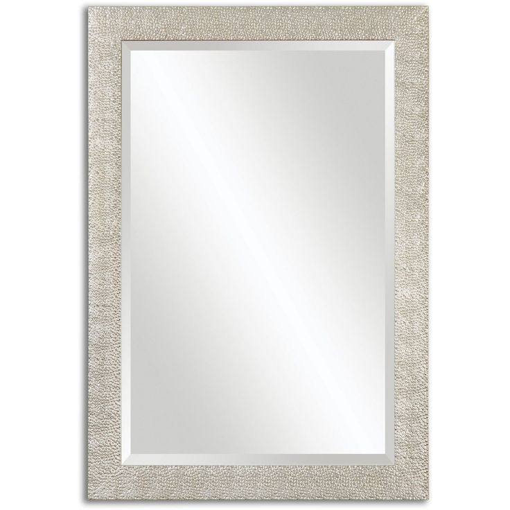 Uttermost Porcius Antiqued Silver Bevelled Mirror