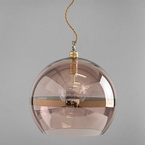 Buy Ebb & Flow Striped Rowan Pendant, Copper Online at johnlewis.com