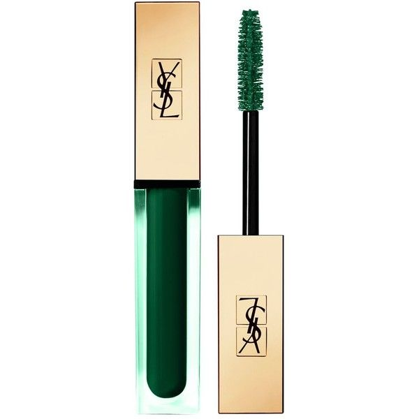 YSL Vinyl Couture Mascara (£26) ❤ liked on Polyvore featuring beauty products, makeup, eye makeup, mascara, polishing kit, lengthening mascara, glossier mascara, yves saint laurent and glossy eye makeup