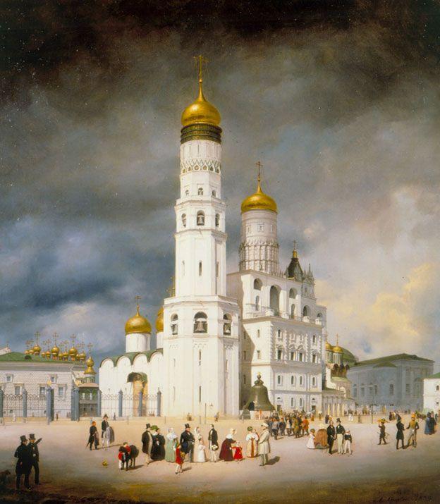 """Эдуард Гертнер (1801–1877). """"Ивановская площадь в Московском Кремле."""" 1839 г."""