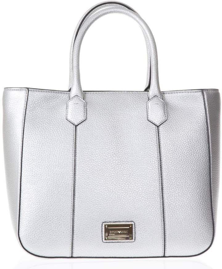 c3c4769d35b5 Emporio Armani Medium Steel Hand Bag In Eco Leather  ad