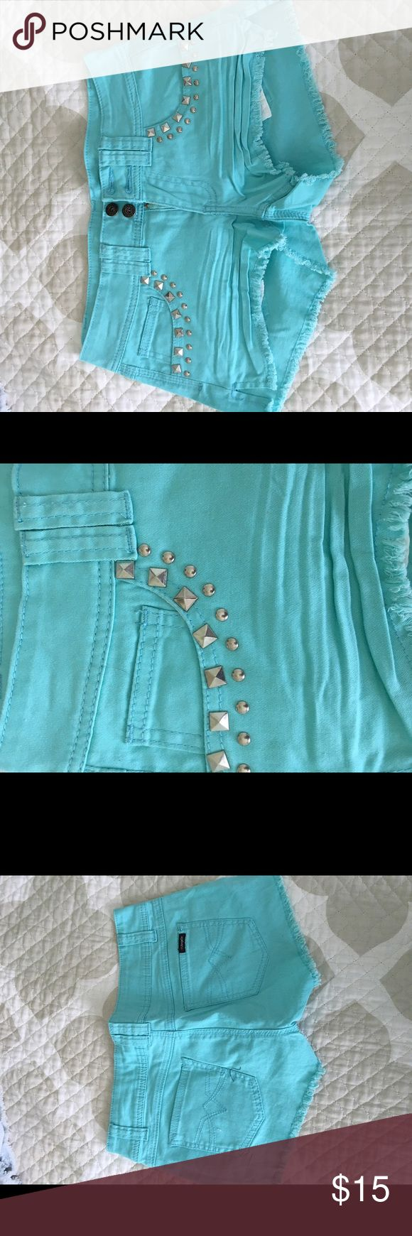 Angel teal shorts Angel teal shorts with some pocket detailing Angels Shorts