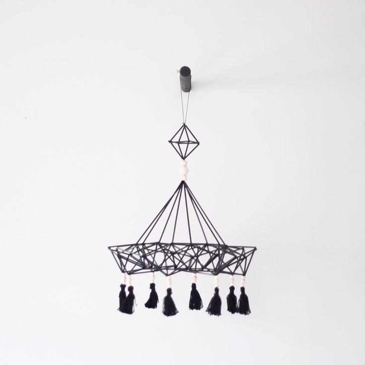 himmeli no. 9 / hanging mobile / modern geometric sculpture. $125.00, via Etsy.