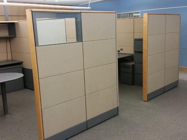 tall used cubicles herman miler ethospace - Herman Miller Schreibtisch Veranstalter
