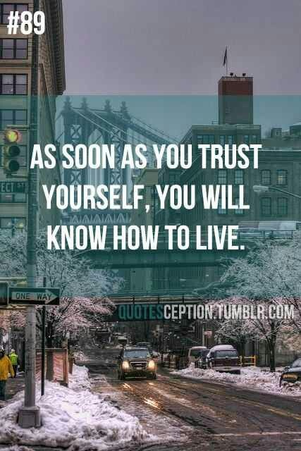 Learning To Trust Yourself Is More Important Than Trusting ...