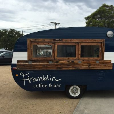 Hello, we're Franklin, the travelling coffee & bar company! - vintage caravan rescue