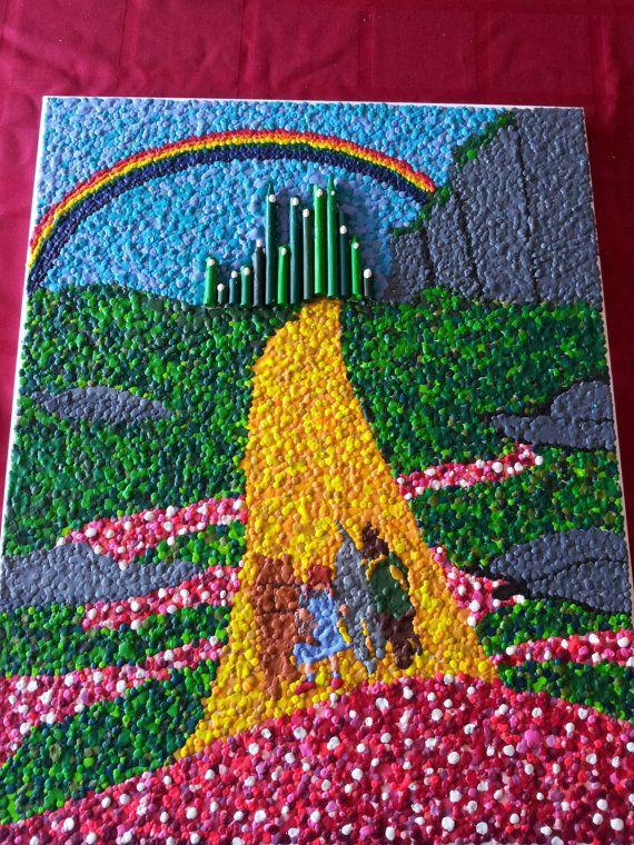 Melted Crayon Wax Art Crayon Art Pinterest Pastel