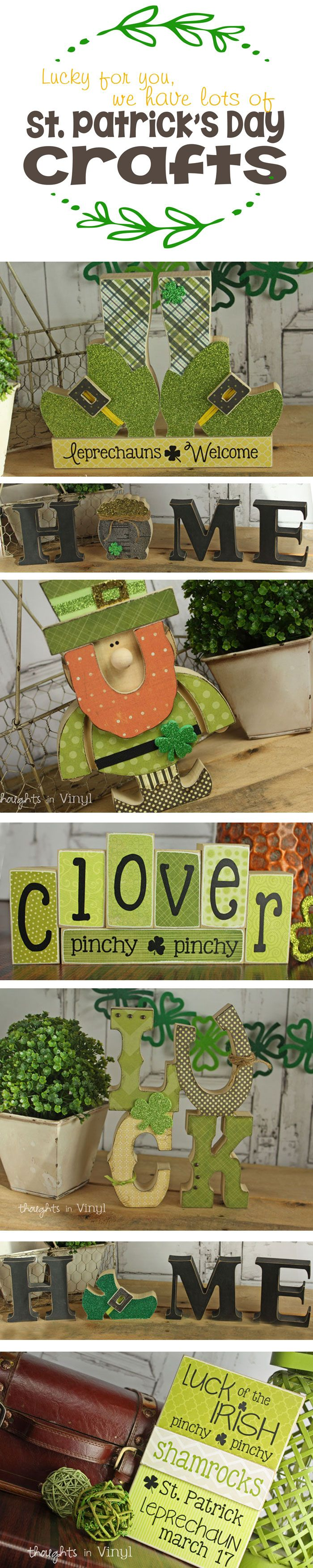 Lots of cute St. Patrick's Day crafts!  Wooden Letters and Leprechauns.  Over 30 different craft kits to pick from!!