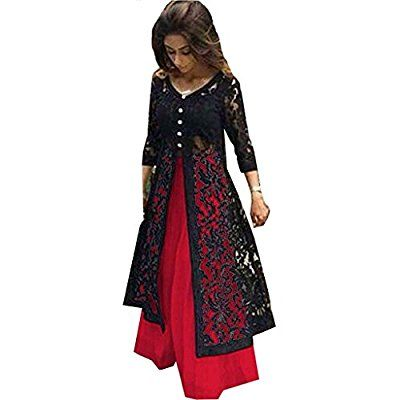 Z Fashion Women's Red & Black Color Indo-Western Lehenga Choli