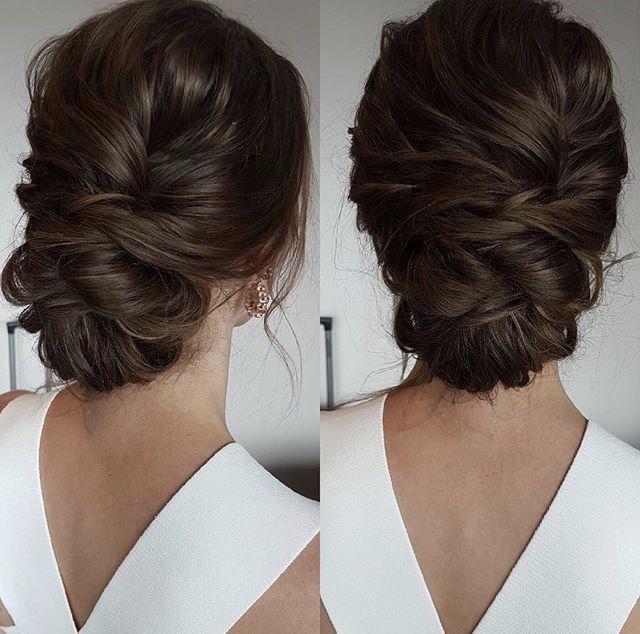Bridal Hair Updo von Emma Chen www.instagram.com … #braunes Haar # Höhen …   – braut haare