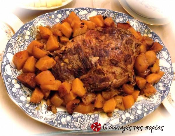 Χοιρινό μπούτι με μέλι & πορτοκάλι #sintagespareas