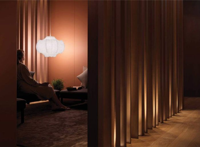 Spa At Four Seasons Milano Is Furnish With Wood, Cream And Grey Design  Elements.