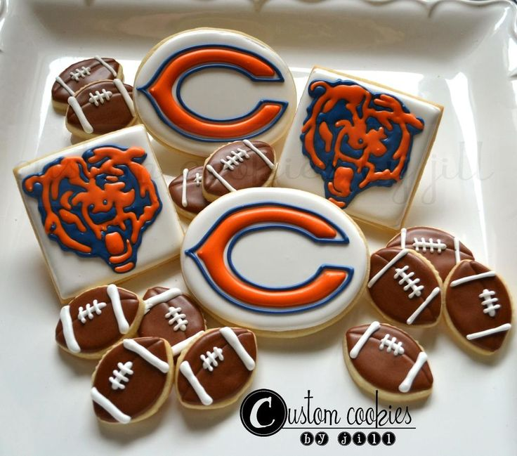 football cookies   Chicago Bears   Cookie Connection