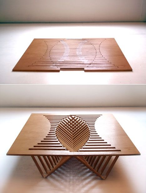"""Best folding table by Robert van Embricqs  """"Rising Table"""""""