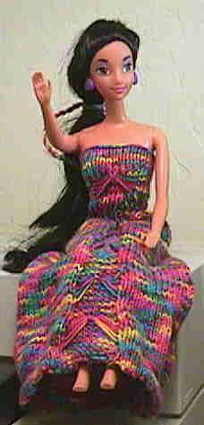 JG: Barbie's Wardrobe (a few dresses, and Ragg Hiking Socks)