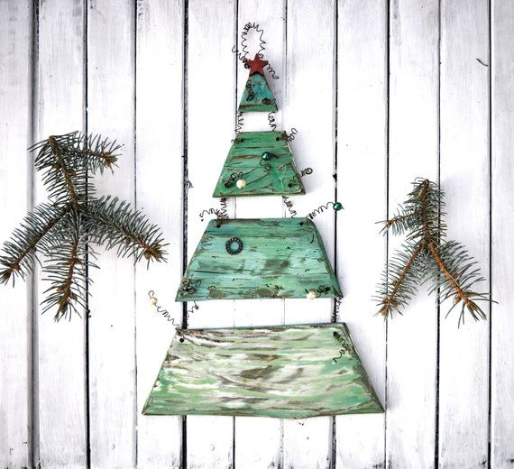Christmas Tree Wall Art Sign Unique Wooden Christmas Tree Etsy Wall Christmas Tree Wooden Christmas Trees Hanging Christmas Tree