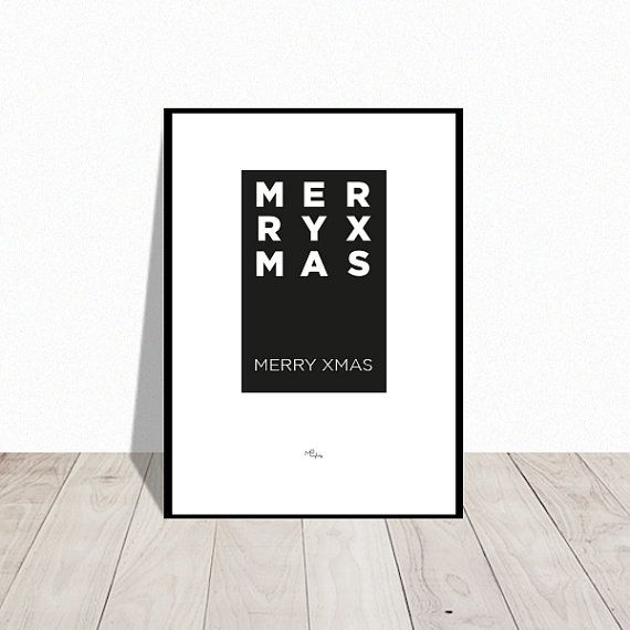Christmas decoration . Merry Xmas . graphic poster. Available in many colors. Design Mai-Britt Parylewicz.