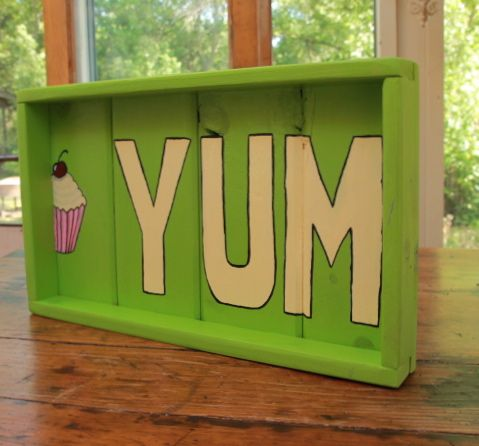 Yum PEEK A BOO Tray at LUCYS' GARDEN WOODEN WHIMSIES on Etsy