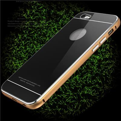 Iphone 6 S Plus Aluminum Frame Tempered Glass Back Cover Lock Button Stand Function Phone Case #apple #iphone #stocklot #wholesale #wholesalelots