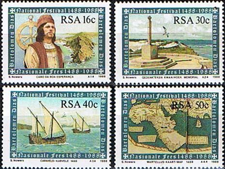 South Africa 1988 Cape of Good Hope Set Fine Mint                    SG 631 4 Scott 706 9 Other South African Stamps HERE