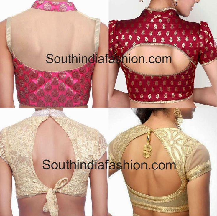 collar blouse back neck designs