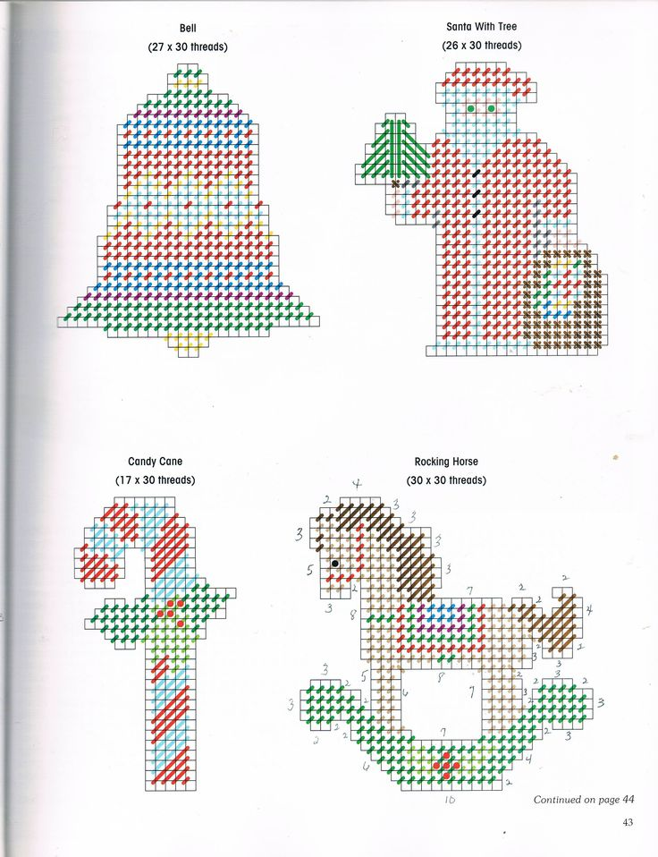 TRADITIONAL TREE TRIMS by BARBARA BAATZ 4/5 - FROM A FESTIVE CHRISTMAS IN PLASTIC CANVAS BOOK ELEVEN