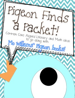 Pigeon Finds a Packet  Literacy and Math Ideas to go along with Mo Willems Pigeon Books.