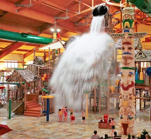 great wolf lodge in sandusky ohio ((indoor water park))