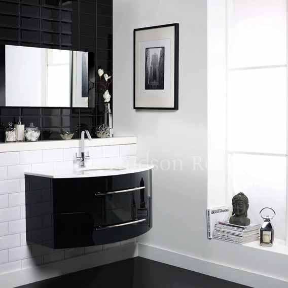 Black Amp White Subway Tiles For Ensuite Bathroom
