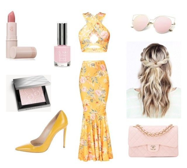 """""""Estelle"""" by rubygwilson on Polyvore featuring Topshop, Burberry, Chanel, Prada and Lipstick Queen"""