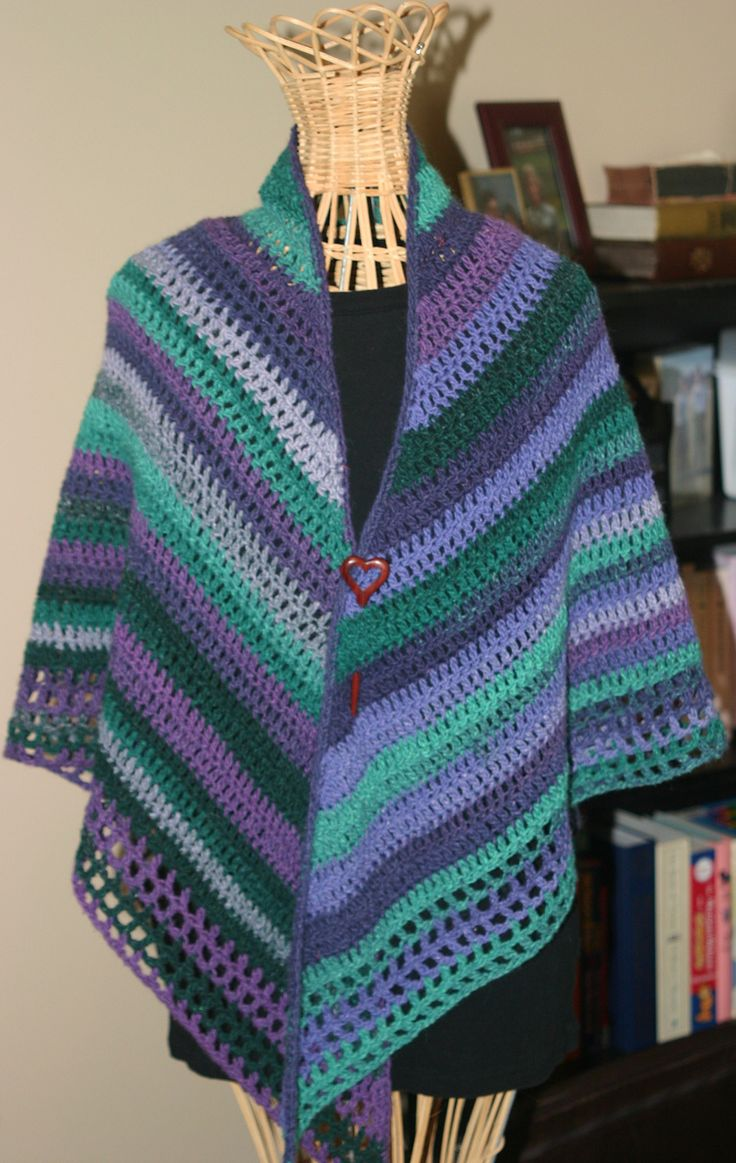 Crochet Patterns For Shawls With Sleeves : Easy Crochet Shawl By Pia Linden - Free Crochet Pattern ...