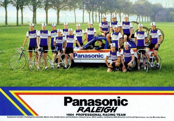 1984 Panasonic Raleigh Professional racing team. AMICI DI BICI