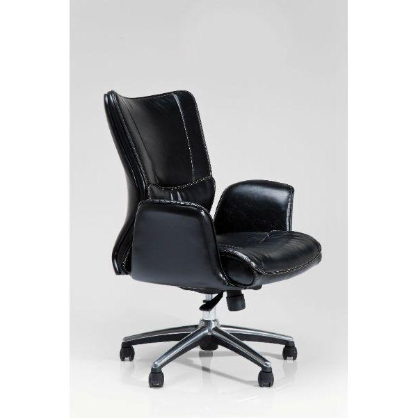 Καρέκλα Γραφείου Boss Black Μία άνετη και αναπαυτική καρέκλα γραφείου, με επένδυση δερματίνης (PU) και μεταλλικό σκελετό.