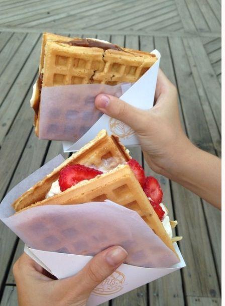 Smore and strawberry shortcake waffles