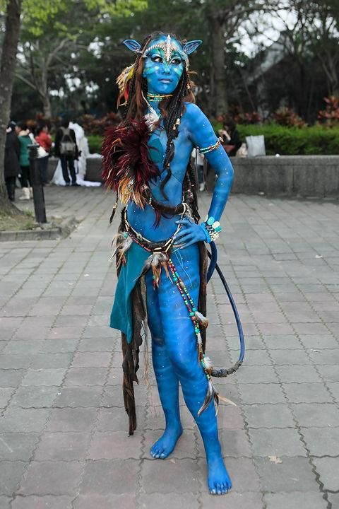 An Awesome Avatar Costume Cos Play Pinterest Avatar Costumes