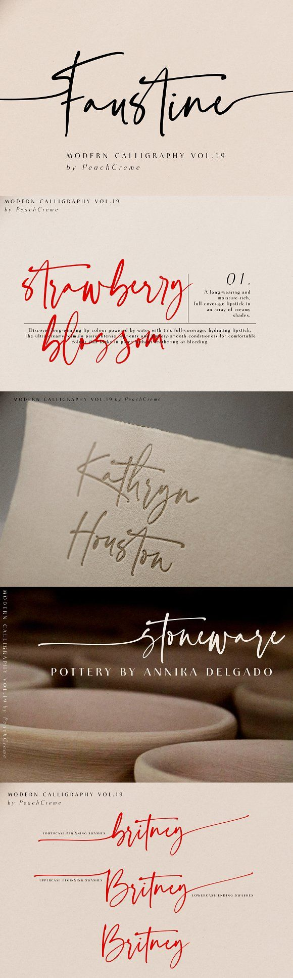 Faustine //Modern Script INTRO PRICE by PeachCreme #sponsored #graphicassets #gr…