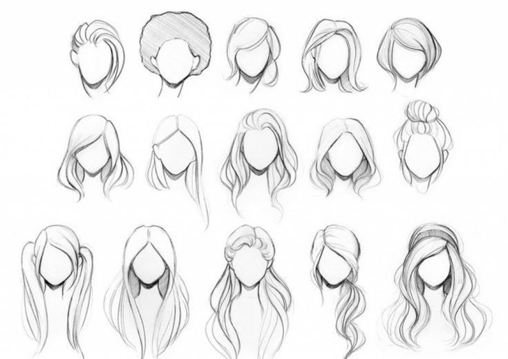 Hairstyles Drawing Girl Long In 2020 How To Draw Hair Hair Illustration Hair Sketch