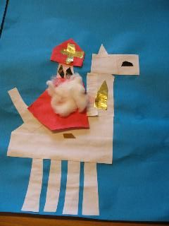 Sinterklaas platte vlak knutselen » Juf Sanne