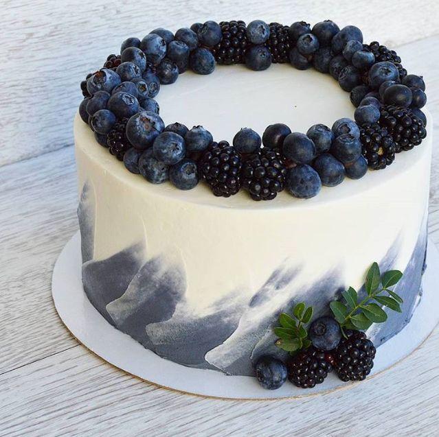 Blueberry cake decore | Cake desserts, Desserts