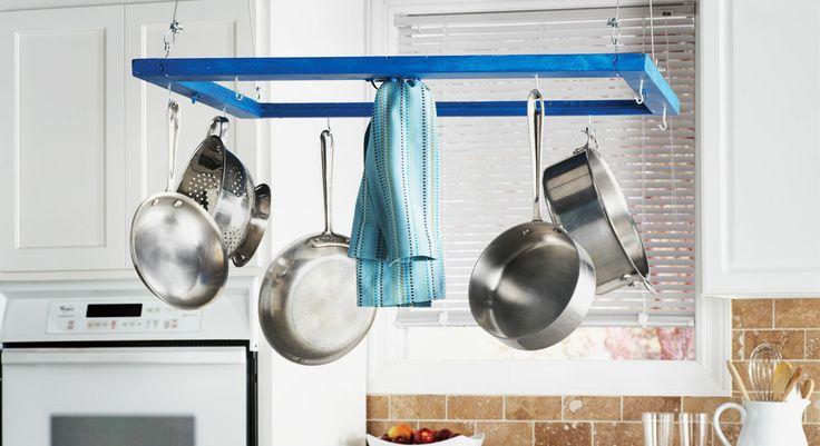 #Déco #récup : un #porte-casseroles #astucieux #diy #tuto