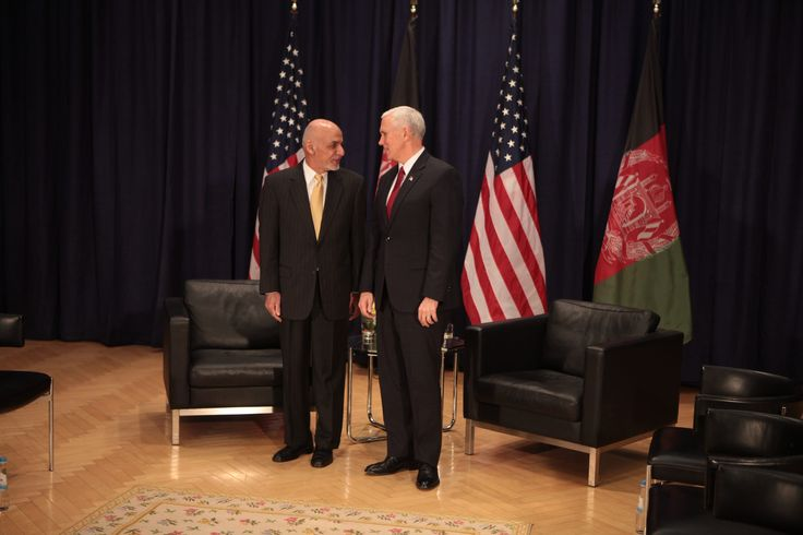 https://flic.kr/p/SejShV | VP Pence with Ashraf Ghani President of Afghanistan prior to their bilateral meeting. | VP Pence with Ashraf Ghani President of Afghanistan prior to their bilateral meeting.