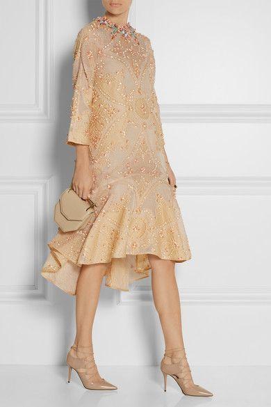 Biyan | Laurie embellished cotton-blend cloqué dress | NET-A-PORTER.COM