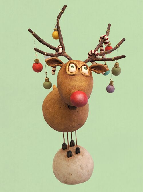 Raindeer with ornaments