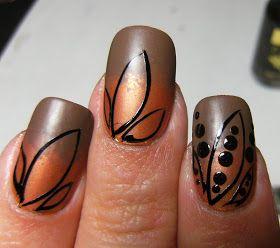 Deez Nailz: Peas-in-a-Pod? copper nail art