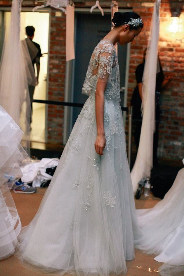 Monique Lhuillier Wedding Dress | Wedding Dresses With Sleeves | Bridal Musings Wedding Blog
