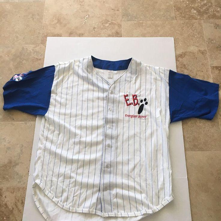 Energizer Bunny 1994 Baseball Jersey Size XL Advertising NWOT Vintage EMB Cotton #Energizer #EnergizerBunny